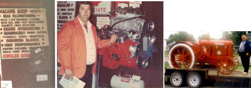 images of the Crysler Automotive Centre in the 1980's about the owner Gilles St.Pierre