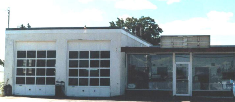picture about the front of Crysler Automotive Centre in 1985.