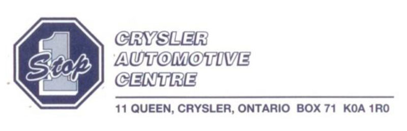 images of the Crysler Automotive Centre about how they came up with the ONE STOP logo.